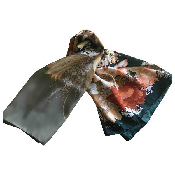 Valentino Garavani Green Silk Silk Handkerchief