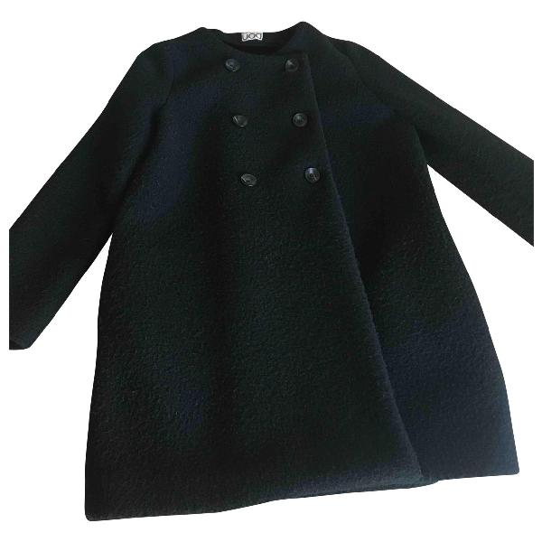 Douuod Black Wool Coat