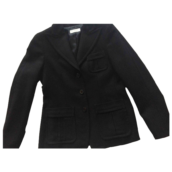 Dries Van Noten Navy Wool Jacket