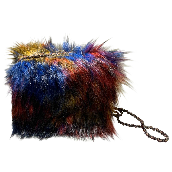 Essentiel Antwerp Multicolour Faux Fur Handbag