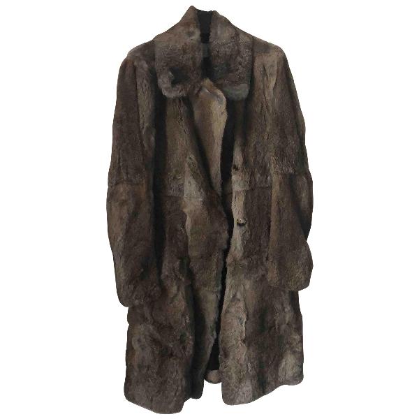 Sandro Fall Winter 2018 Beige Rabbit Coat