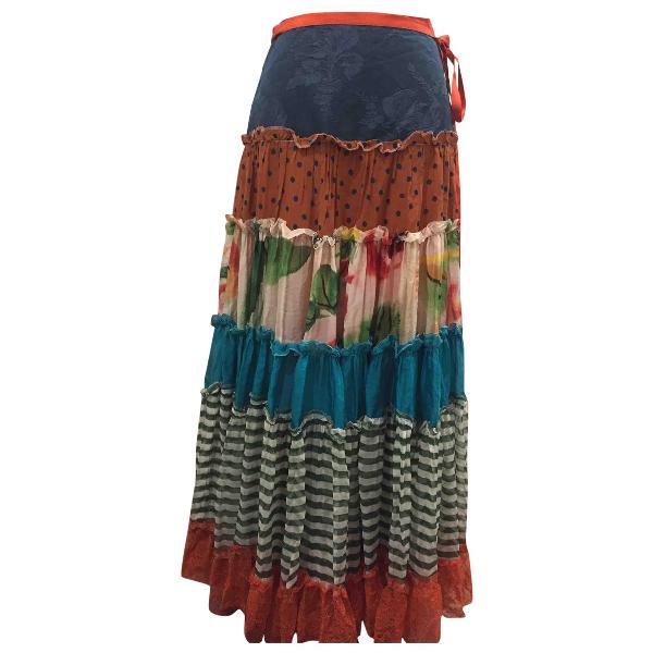 Jean Paul Gaultier Multicolour Silk Skirt