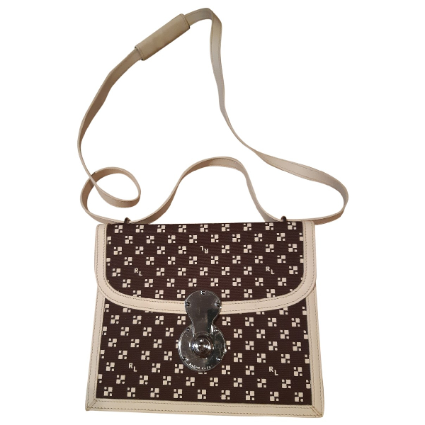 Ralph Lauren Brown Cloth Handbag