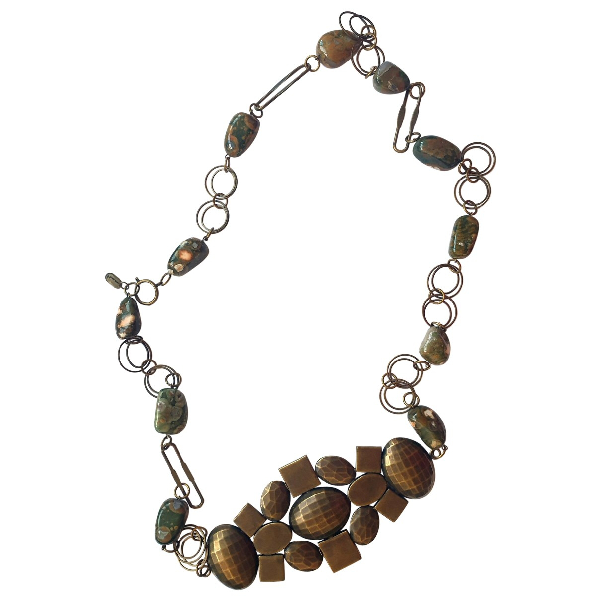 Isabel Marant Khaki Metal Necklace