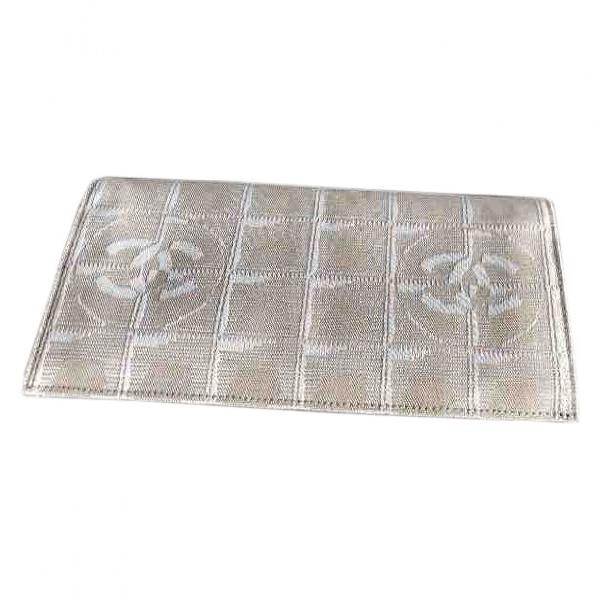 Chanel Beige Cloth Wallet