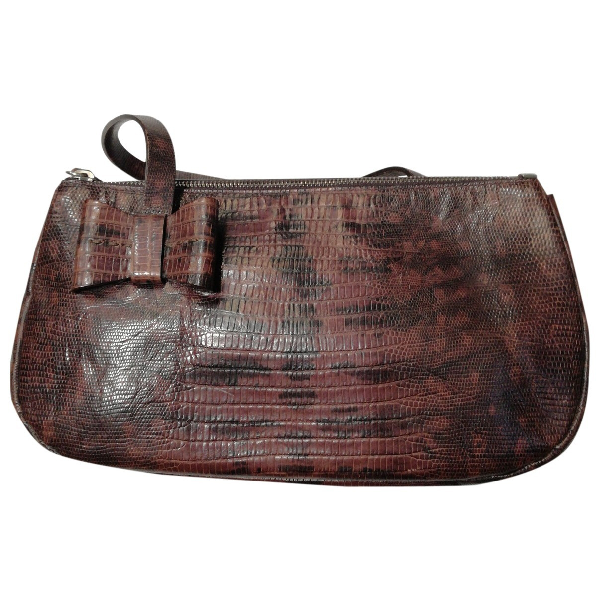 Miu Miu Burgundy Lizard Handbag
