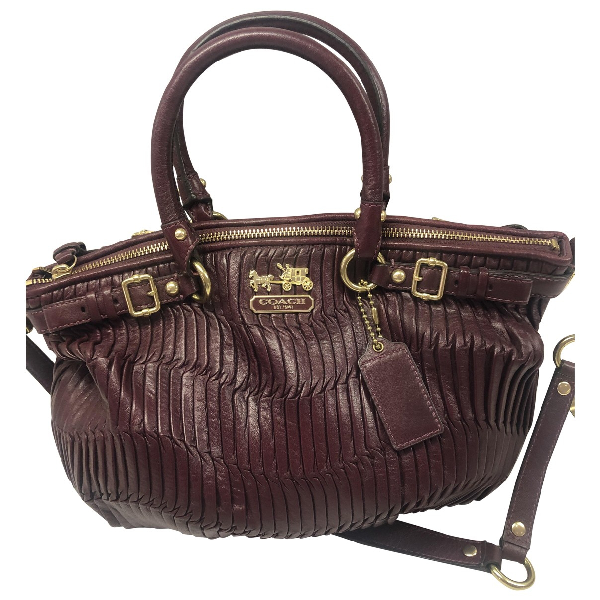 Coach Burgundy Leather Handbag
