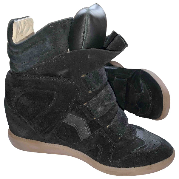 Isabel Marant Beckett Black Suede Trainers
