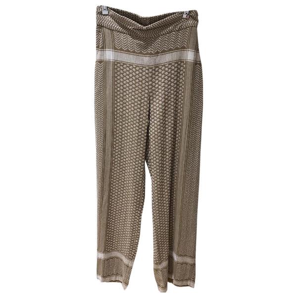 Rough Studios Beige Cotton Trousers