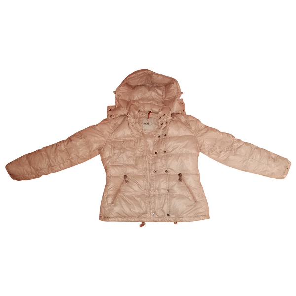 Moncler Hood Pink Coat