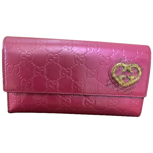 Gucci Pink Patent Leather Wallet