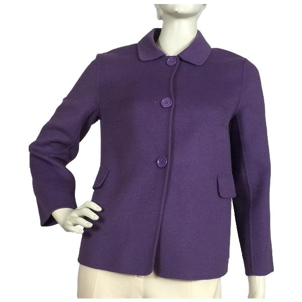Max Mara Purple Wool Jacket