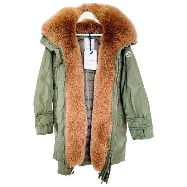 Moncler Long Green Coat