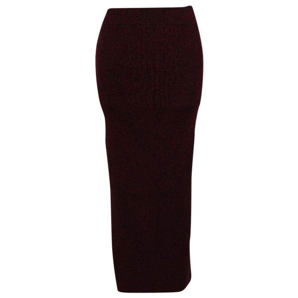 Maje Fall Winter 2019 Burgundy Wool Skirt