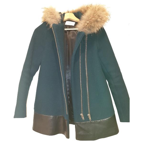 Sandro Green Wool Coat