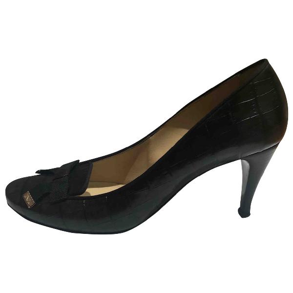 Emporio Armani Black Leather Heels