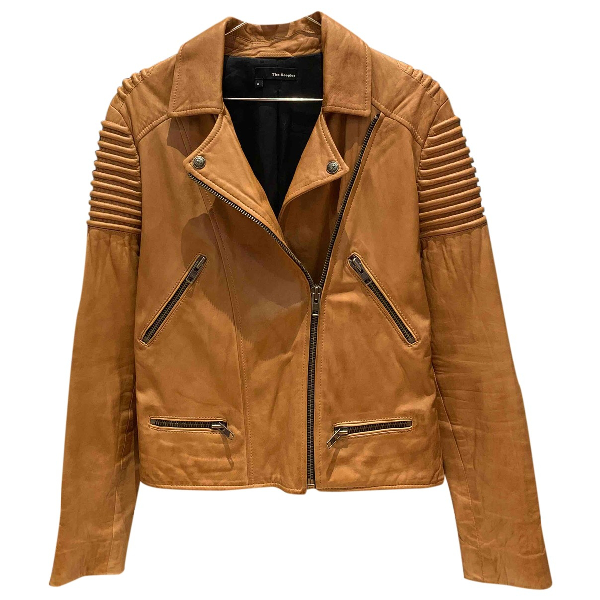 The Kooples Camel Leather Leather Jacket