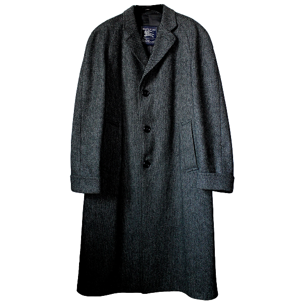 Burberry Anthracite Wool Coat