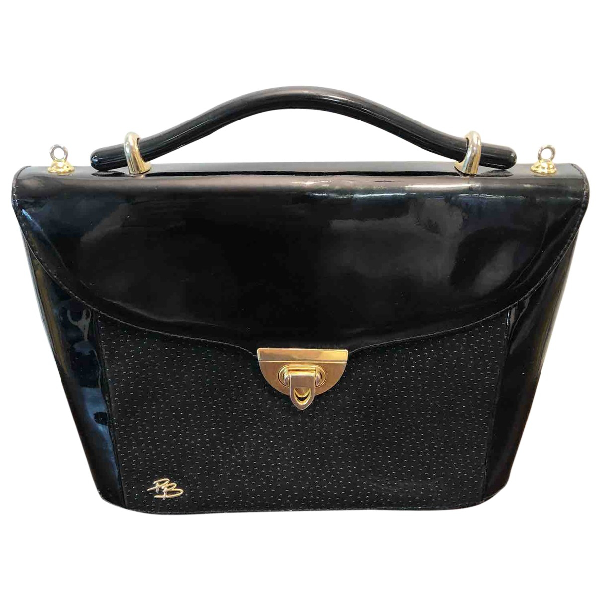 Pierre Balmain Black Patent Leather Handbag