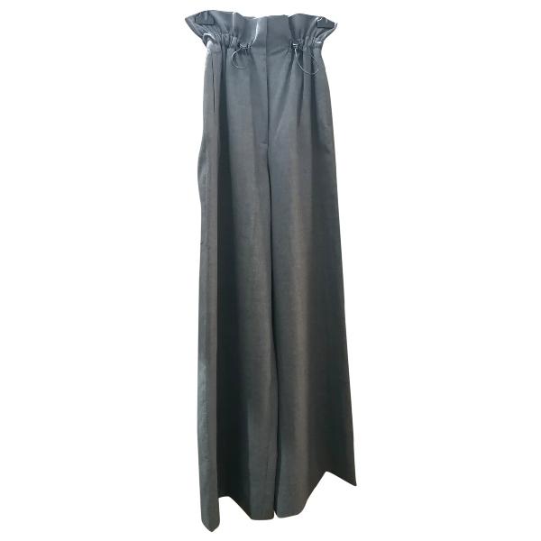 Max Mara Grey Wool Trousers