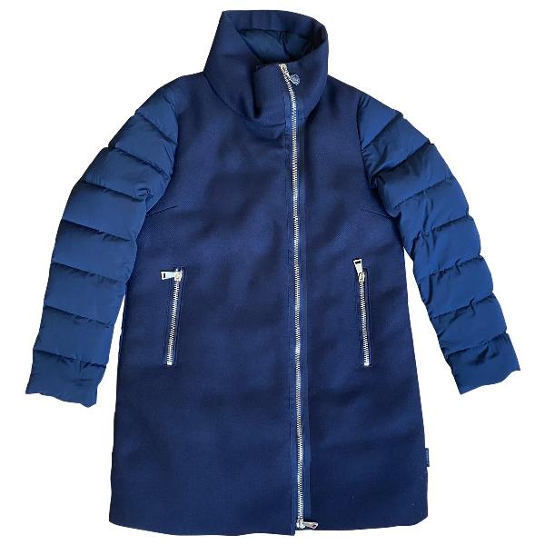 Moncler Long Navy Coat