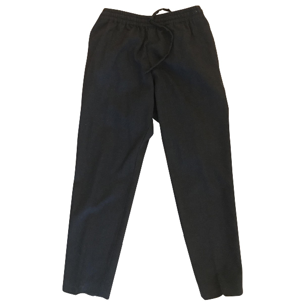 Joseph Anthracite Wool Trousers