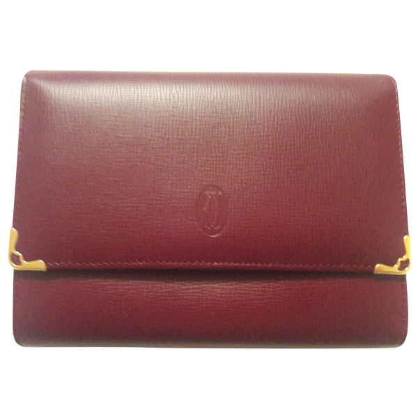 Cartier Burgundy Leather Wallet