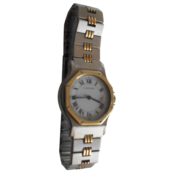 Cartier Santos Ronde Silver Gold And Steel Watch