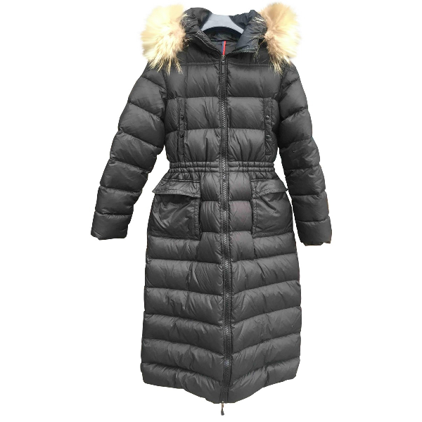 Moncler Long Black Coat