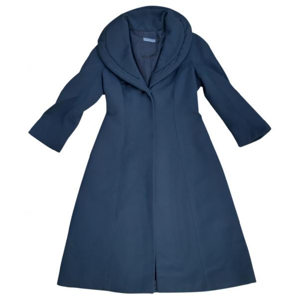 Alberta Ferretti Black Wool Coat