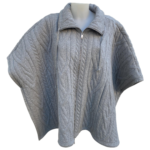 Mm6 Maison Margiela Grey Cotton Coat