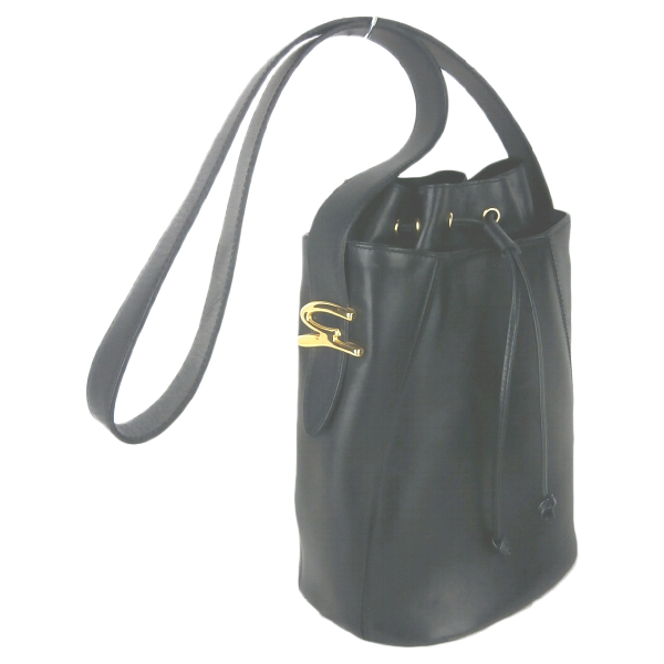 Genny Black Leather Handbag