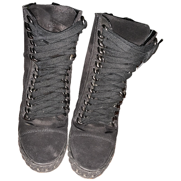 Casadei Black Leather Trainers