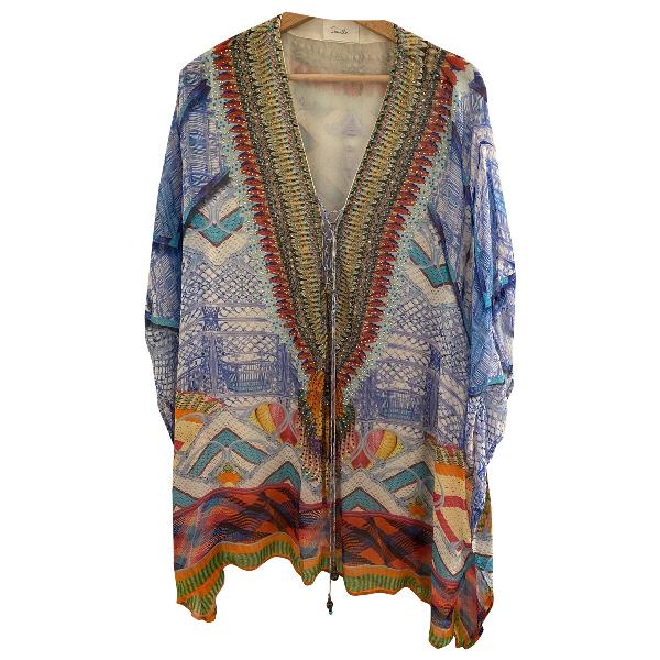 Camilla Multicolour Silk  Top