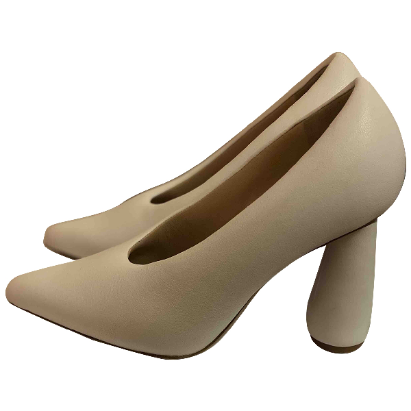 Jacquemus Jacques White Leather Heels