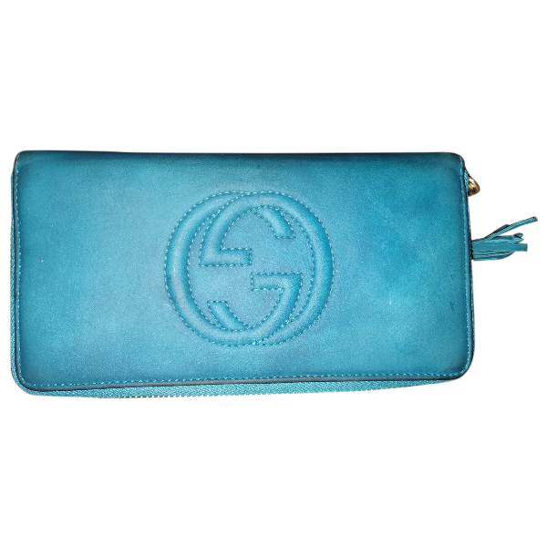 Gucci Turquoise Leather Wallet