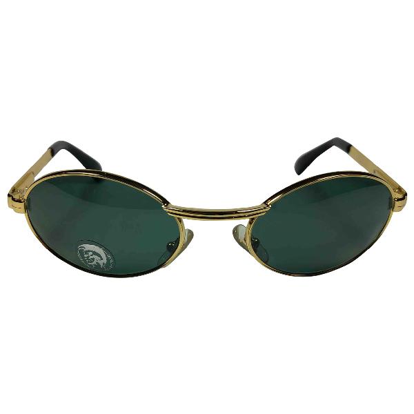 Diesel Gold Metal Sunglasses