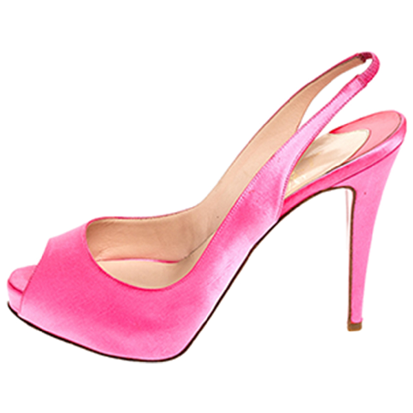 Christian Louboutin Private Number Pink Cloth Heels