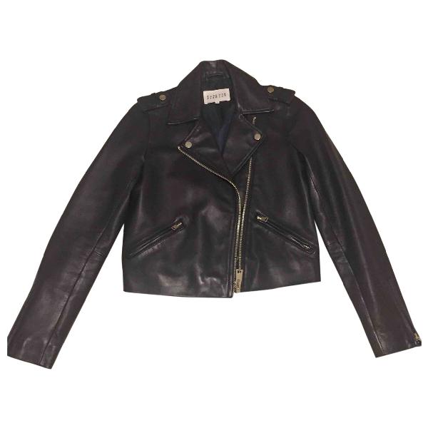 Claudie Pierlot Black Leather Leather Jacket
