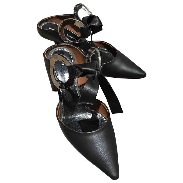 Proenza Schouler Black Leather Sandals