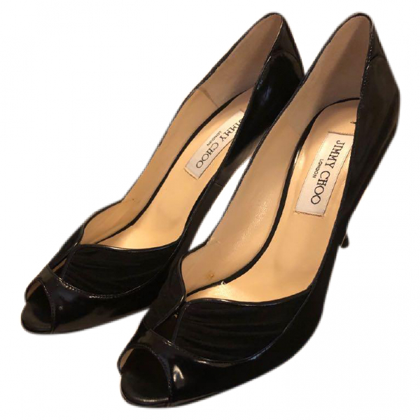 Jimmy Choo Black Patent Leather Heels