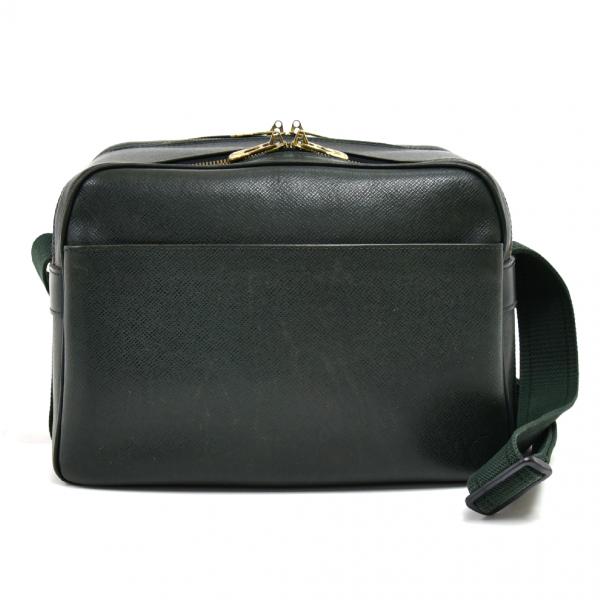 Louis Vuitton Reporter Green Leather Handbag