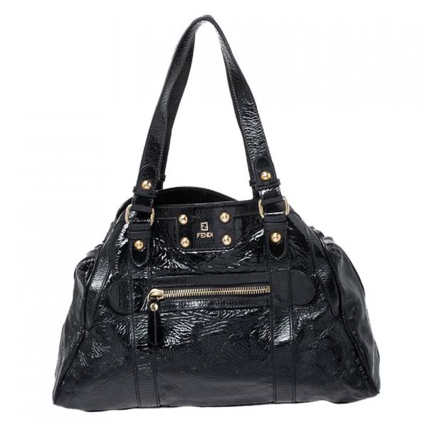 Fendi Black Patent Leather Handbag