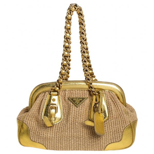 Prada Gold Handbag