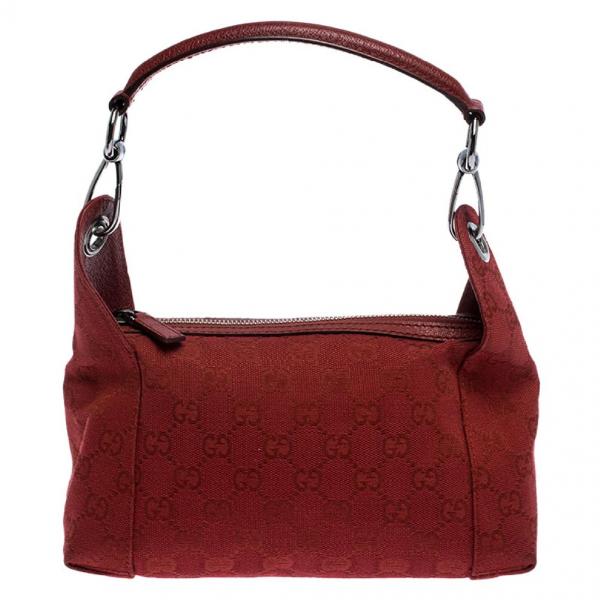 Gucci Red Cloth Handbag