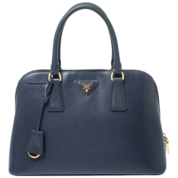 Prada Promenade Blue Leather Handbag