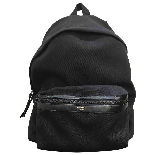Saint Laurent City Backpack Black Cloth Bag