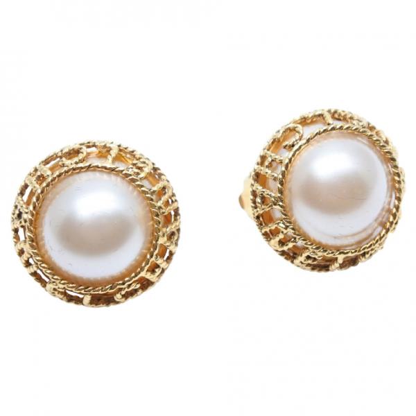 Chanel Gold Metal Earrings