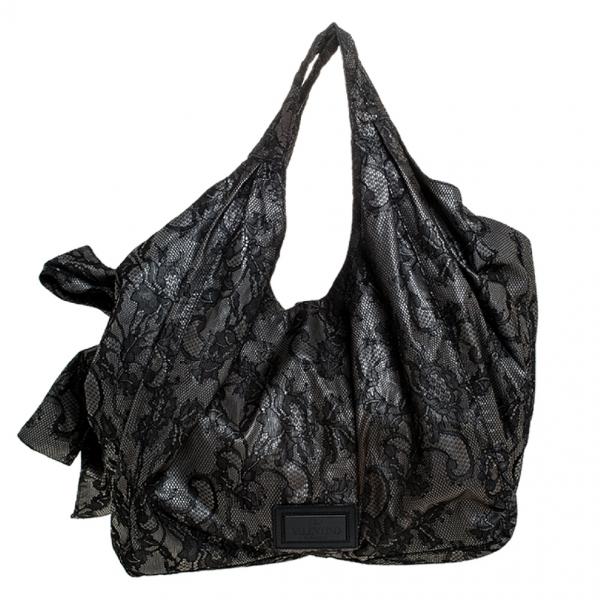 Valentino Garavani Black Cloth Handbag