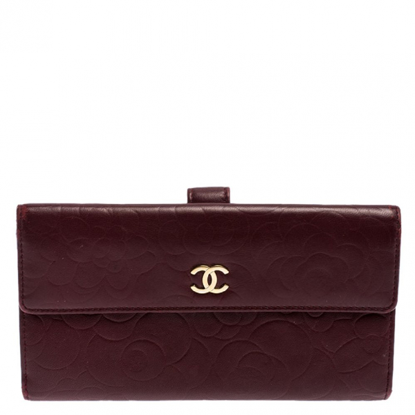 Chanel Burgundy Leather Wallet